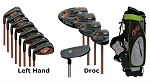 DROC - DIMOND  Series *13*  Pieces LEFT Handed Golf Clubs Set & Golf Bag   Ages 11-14